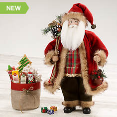 Collectible Santa with Treat Bag