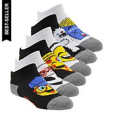 Skechers Boy's S110988 6-Pack Non Terry Low Cut Socks