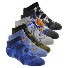 Skechers Boys' S110990 6-Pack Non Terry Low Cut Socks