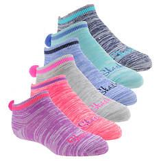Skechers Girls' S110438 6 Pack Non Terry Low Cut Socks