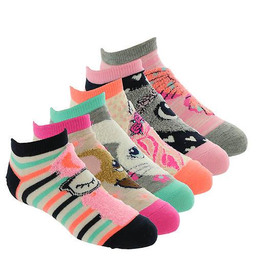 Skechers Girls' S110610 6 Pack Infant Non-Terry Socks