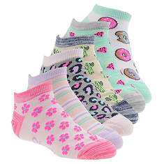 Skechers Girls' S111095 6-Pack Non Terry Low Cut Socks