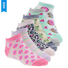 Skechers Girls' S111095 6-Pack Non Terry Low Cut Socks