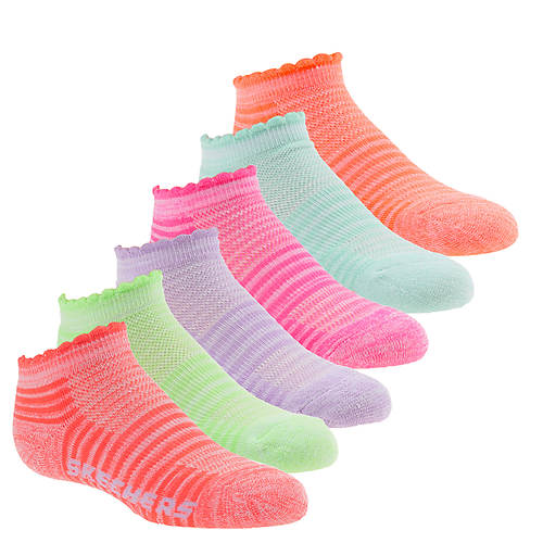 Skechers Girls' S109991 1/2 Terry Low Cut Socks