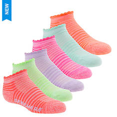 Skechers Girls' S109991 1/2 Terry Low Cut Socks
