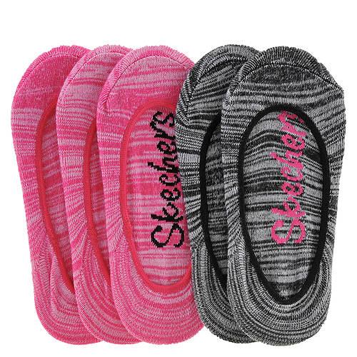 Skechers Girls' S106583 Non Terry Super Low Socks