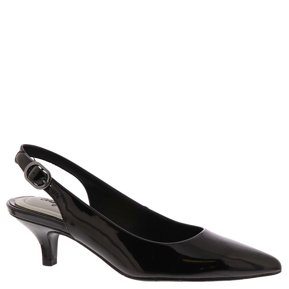 1950s Style Shoes | Heels, Flats, Saddle Shoes Easy Street Faye Womens Black Pump 7.5 M $54.95 AT vintagedancer.com