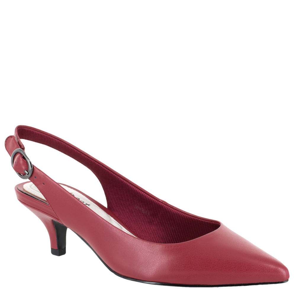 1950s Style Shoes | Heels, Flats, Saddle Shoes Easy Street Faye Womens Red Pump 7.5 W2 $54.95 AT vintagedancer.com