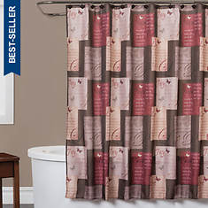 Grace Fabric Shower Curtain with Hooks