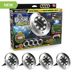 Bell + Howell 4-Pack LED Disk Lights