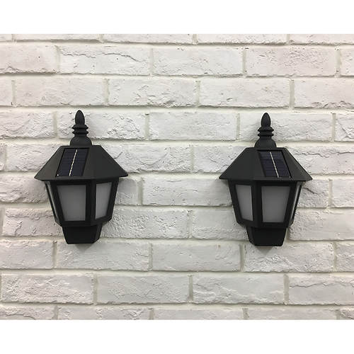 2-Pack Solar Wall Sconces