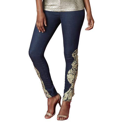 Gold Lace Skinny Jean