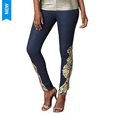 Gold Lace Skinny Jean