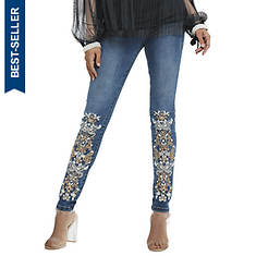 Lace-Embellished Jean