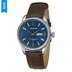 Armitron Men's Brown Leather Strap Watch