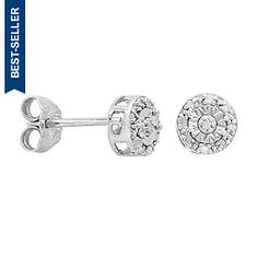 Round Diamond Accent Earrings