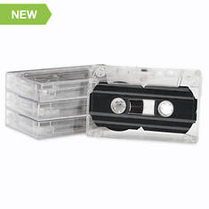 Blank Audio Cassette Tapes-Set of 4