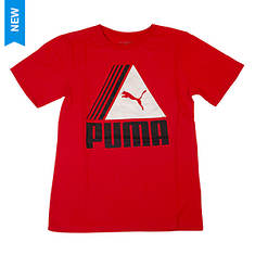 PUMA Boys' Triangle Cat Logo Tee