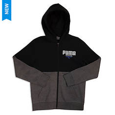 PUMA Boys' Color Blocked FZ Hoodie