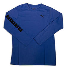 PUMA Boys' Logo Sleeve Top