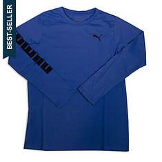 PUMA Boys' Logo Sleeve Top