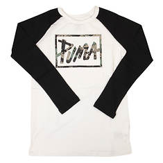 PUMA Boys' Raglan Long Sleeve Top
