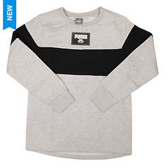 PUMA Boys' Color Blocked Pull Over Crew