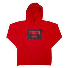 PUMA Boys' Block Logo Pullover Hoodie