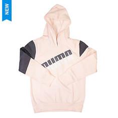 PUMA Girls' Colorblocked Pullover Hoodie