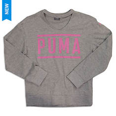 PUMA Girls' Long Sleeve Fashion Top