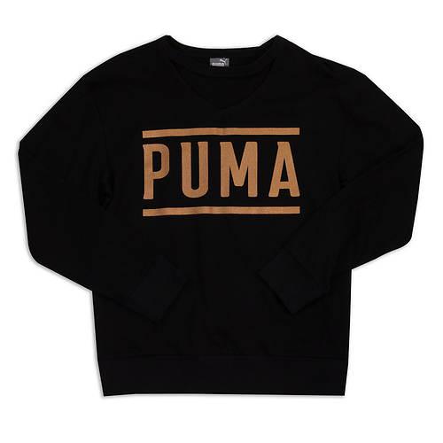 PUMA Girls' Long Sleeve Fashion Top