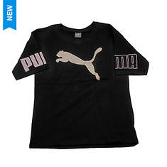 PUMA Girls' Oversized Puma Cat Tee