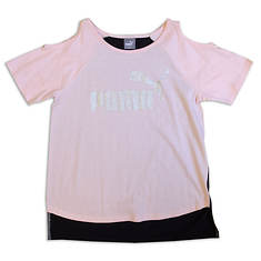 PUMA Girls' Cold Shoulder Tee