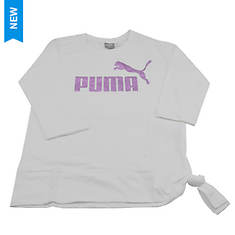 PUMA Girls' No.1 Logo Side Knot Top