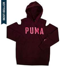 PUMA Girls' Cold Shoulder Pullover Hoodie