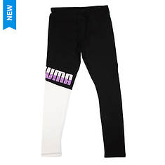 PUMA Girls' Contrast Color Blocked Leggings