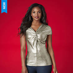 Metallic Knot Top