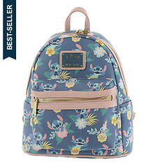 Loungefly Disney Stitch & Scrump Floral-Print Mini Backpack