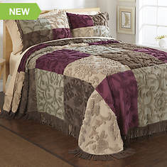 Heritage Patchwork Chenille Bedspread