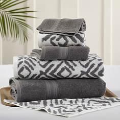 6-Piece Ikat Diamond Towel Set