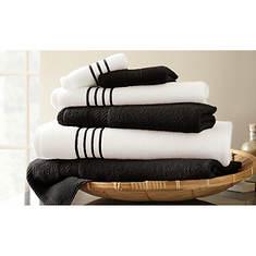 6-Piece Stripe/Contrast Towel Set