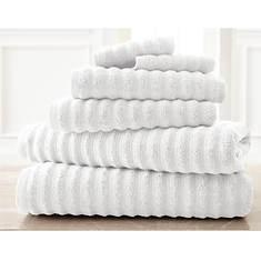6-Piece Wavy Spa 100% Cotton Towel Set