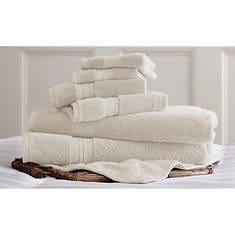 6-Piece Luxury 100% Cotton Towel Set
