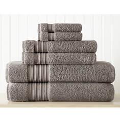6-Piece Turkish Cotton Towel Set