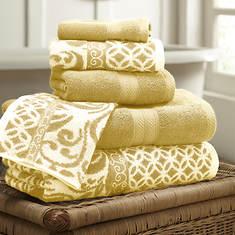 6-Piece Trefoil Filigree Towel Set
