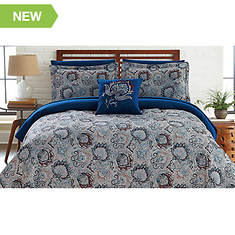 Fine Linens Printed Reversible Complete Bed Set