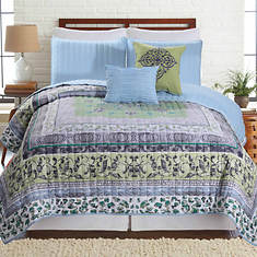 5-Piece Printed Reversible Quilt Set