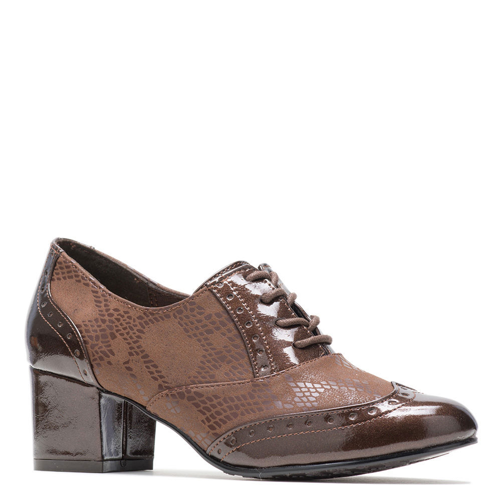 Retro Vintage Style Wide Shoes Soft Style Gisele Womens Brown Pump 6 W $59.95 AT vintagedancer.com
