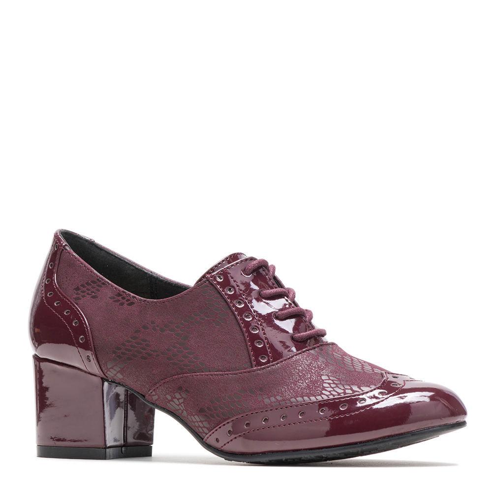 Retro Vintage Style Wide Shoes Soft Style Gisele Womens Burgundy Pump 6.5 M $59.95 AT vintagedancer.com
