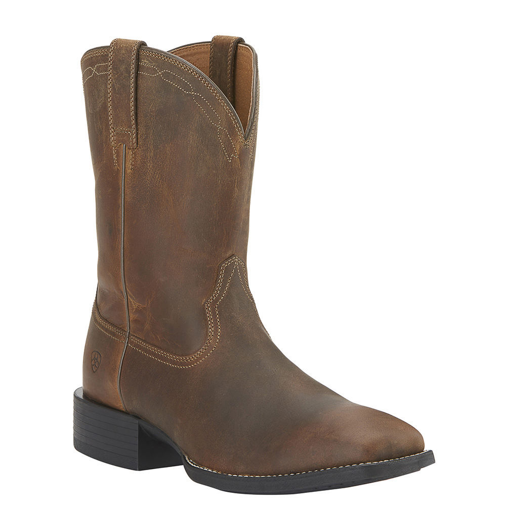 ef18e2685cf Details about Ariat Heritage Roper Wide Square Toe Men's Boot